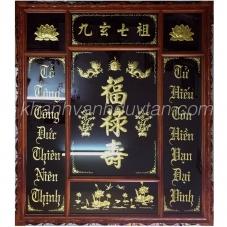 Bàn thờ Cửu Huyền Thất Tổ - Khánh vàng