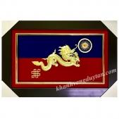 Cờ Truyền Thừa Drukpa - Khánh vàng 24k