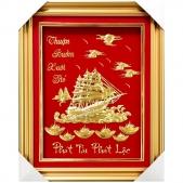 Khánh vàng quà mừng tân gia thuyền buồm 3d