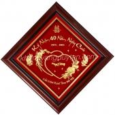 Quà tặng kỷ niệm 40 năm ngày cưới bố mẹ - Khánh vàng