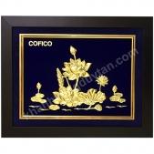 Khánh vàng Tranh hoa sen 3d cao cấp