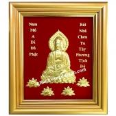 Tranh Phật A Di Đà - Khánh vàng Phật