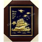 Khánh Vàng Tranh Thuyền Buồm 3d