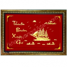 Tranh thuyền buồm Khánh vàng cao cấp